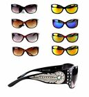 Montana West Ladies Sunglasses Daisy Concho Turquoise Stone Silver Feather UV400