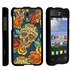 For Alcatel Pop Star LTE A845G Slim Fit Hard Shell Case Sinister Skulls