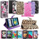 Luxury Bling Glitter Pu Leather Flip Stand Card Pocket Wallet Case Cover W/Strap