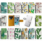 Vintage Green Leaves PU Wallet Strap Magnetic Leather Case For Iphone 6S Plus 5S