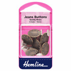 Hemline  6 x Jeans Buttons Bronze Or Silver  No Sew Repair  Pack Set