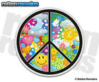 Peace Sign Psychedelic Hippie Decal Symbol World Earth Vinyl Window Sticker EMV
