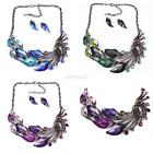 Stylish Peacock Jewelry Set Wedding &Formal Occasion Choker Necklace Earring Set