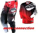 MSR NXT MX RACE KIT RED/BLACK TROUSERS  + SHIRT  MOTOCROSS ENDURO QUAD