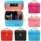 Professional Salon Makeup Beauty Cosmetic Jewelry Leather Train Case Box Handbag