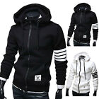 Stylish New Men's Casual Zip Hooded Sweatshirt Jumper Coat Jacket Outerwear Tops