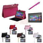 """For Surface RT2 10.6"""" Tablet Case Leather Cover Stand + Stylus Screen Protector"""