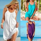 Lady Summer Loose Casual Sleeveless Evening Party Beach Dress Short Mini Dress