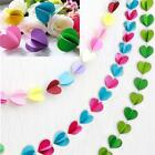 Love Heart Paper Garland Wedding Party Birthday Home Hanging Decoration 3m - LD