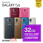 Samsung Galaxy S5 32GB 4G LTE Excellet Add SDcard White Black Gold Blue !