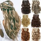 US Deluxe Premium Quality 100% Full Head Clip In Hair Extensions As Human Remy