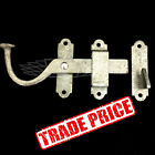 "BOX OF 10, 150mm 6"" LEFT HAND SURFACE GATE LATCH - GALVANISED - 1131 TRADE PRICE"
