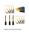 KnitPro  Crochet Hooks Gold & Black Soft Grip Handle  2.5mm to 6mm  FREE POST UK