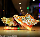 Boys Girls Casual Outdoor Sport Shoes Wings Shoe LED Lights USB Charging Shoes