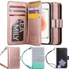 ULAK PU Leather Magnet Wallet Flip 7 Card Slots Case Cover for iphone 5S/SE/5