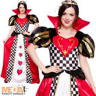 Queen of Hearts Fancy Dress Fairytale Ladies Alice in Wonderland Book Costume