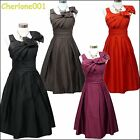 Cherlone Satin Damenkleid Cocktailkleid Ballkleid Abendkleid Brautjungfer Kleid