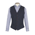 New Wool Premium Mens Stranraer Harris Tweed Waistcoat Coat - Size 36r - 48r