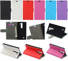 wallet Card Leather Case Stand Skin Cover for Huawei WIKO ZTE Various phone KS