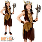 Viking Girls Fancy Dress Kids School Childs Medieval Costume Book Outfit New