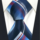 A36 Mens Ties Blue Navy Neckties Extra Long Size Plaids Checkes New Classic