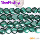 "AAA Heart Natural Malachite Stone Beads For Jewelry Making Gemstone15"" 8,10,12mm"