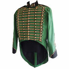 """Steampunk"" Military Jacket by SDL in green + black trim & antique gold braid"
