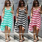 New Woman Striped Dresses Maxi Dress Skirt Sleeveless Dresses Fashion Long Dress