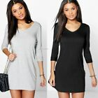 Women Fashion  Casual Loose Long Sleeve Tops T-shirt Blouse Short Mini B20E