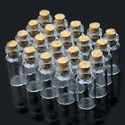 Wholesale Lots 10/20 pcs 2ml Small Empty Clear Glass Bottles Vials with Cork NEW