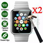 2Pcs Premium Tempered Glass Screen Protector 38mm 42mm For Apple Watch iWatch