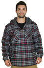 Moda Essentials Men's Plaid Flannel Hooded Jacket SLIGHT IMPERFECTION Size L