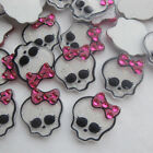 20/40pcs Upick Resin Skull Flatback Button DIY Scrapbooking Appliques JCN102