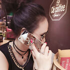Fashion Bear Mirror Finger Ring Holder Soft TPU Case Cover For Various Phone