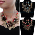 Fashion Jewelry Set Acrylic Vintage Statement Pendant Bib Necklace Earrings New