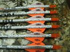 (6)  EASTON  CARBON BOWFIRE  400  Arrows   in 24-31. Inch long . 823347/TF