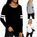 New Fashion Womens Ladies Casual Loose Tops Long Sleeve T-Shirt Summer Blouse TY