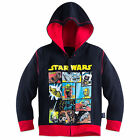 Disney Store Star Wars Zip Front Hoodie Sweat Shirt Boy Size 7/8 $29.99 USD on eBay