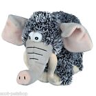 Dog Toy By Trixie Plush Grey Mammoth With Squeaker Sound