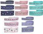 "NEW 9mm 3/8"" 16mm 5/8"" 25mm 1"" Premium Vintage Style Flower Grosgrain Ribbon Eco"