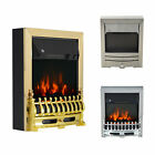 Modern Electric Fireplace 1 & 2KW LED Fire Place Effect Heater Fire Flame Stove