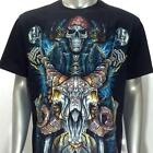 h3 Rock Chang T-shirt Tattoo Skull Glow in Dark SPECIAL HD PRINT Pirate Biker