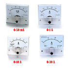 DC 0-50mA 0-1A 0-10A 0-30A Current Panel Meter  Analog Amp Ammeter Select Model