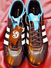 Soccer cleats shoes Adidas Adipure IV  $150+ G40532 black white blue 5.5 6.5 12