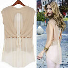 Fashion Ladies Women's Sleeveless Casual Shirt Tops Summer Cool Blouse