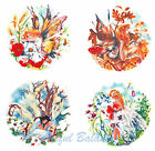 """Ceramic Decals Fairy Fairies Of The Seasons 7.5""""  Spring Summer Fall Winter"""