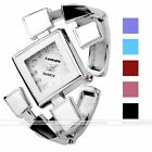 Womens Fashion Silvery Square Case Quartz Analog Wrist Watch,Bracelet