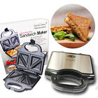 2 SLICE NON STICK SANDWICH TOASTER MAKER GRILL DEEP FILL FILLED TOASTIE PRESS