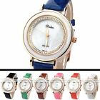 Women's Golden Case Crystal Quartz Analog Wrist Band Casual Watch