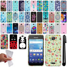 For Kyocera Hydro Wave C6740 Air C6745 Art Design TPU SILICONE Case Cover + Pen